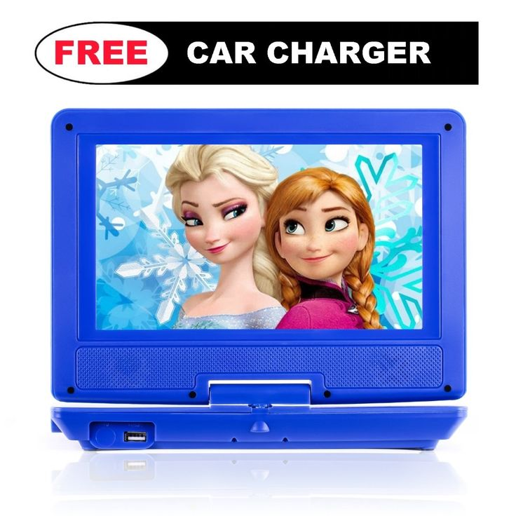 "Portable DVD Player for Car, Plane, Bus & more – Car Charger ($10 Value) – 9"" Swivel Screen – Rechargeable Battery – With Remote Control, Game Disc & Controller - Portable DVD Player for Kids"