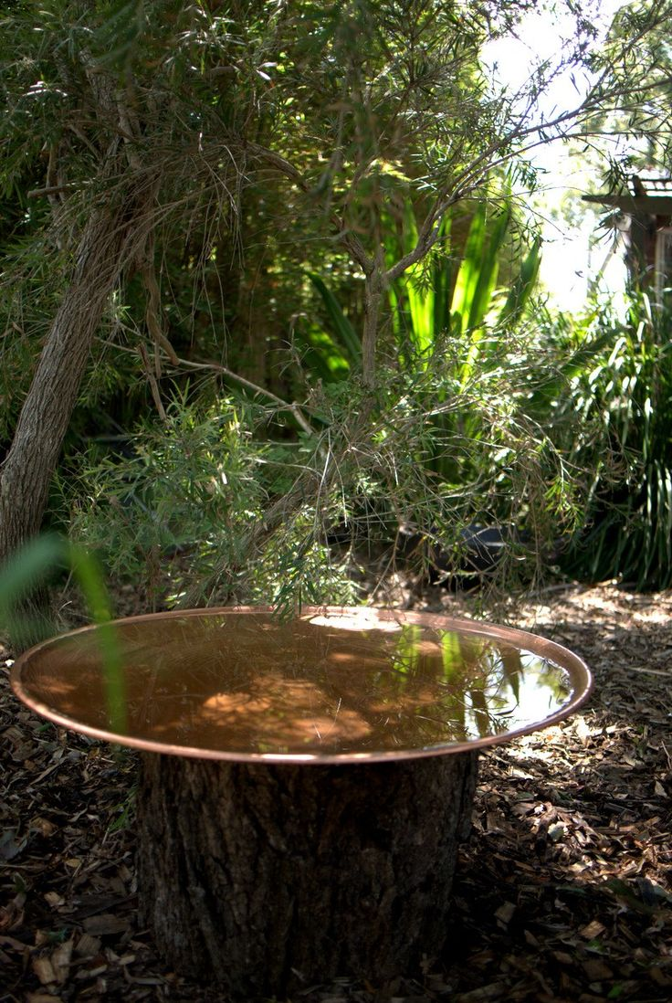 This would be cool in the centre garden bed. Surrounded by grasses  Copper Bird Bath by Mallee Design