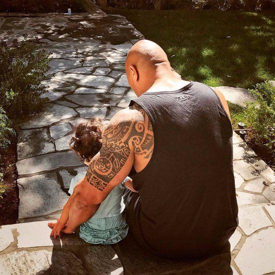 Dwayne Johnson and Daughter Jasmine Instagram Photo 2017