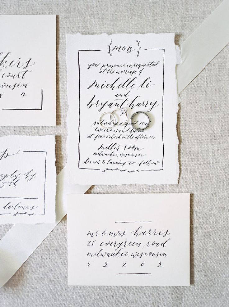 Olive Branch & Co - Calligraphy Invitation - Laurelyn Savannah