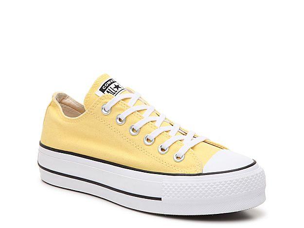 converse plateforme jaune