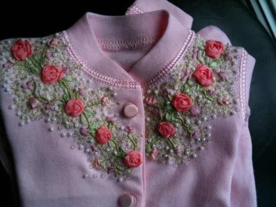 Bordado blusa bordados pinterest ribbon embroidery