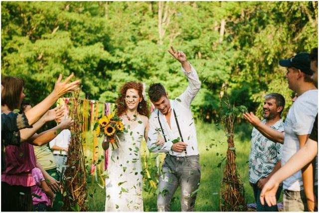 hippi esküvő
