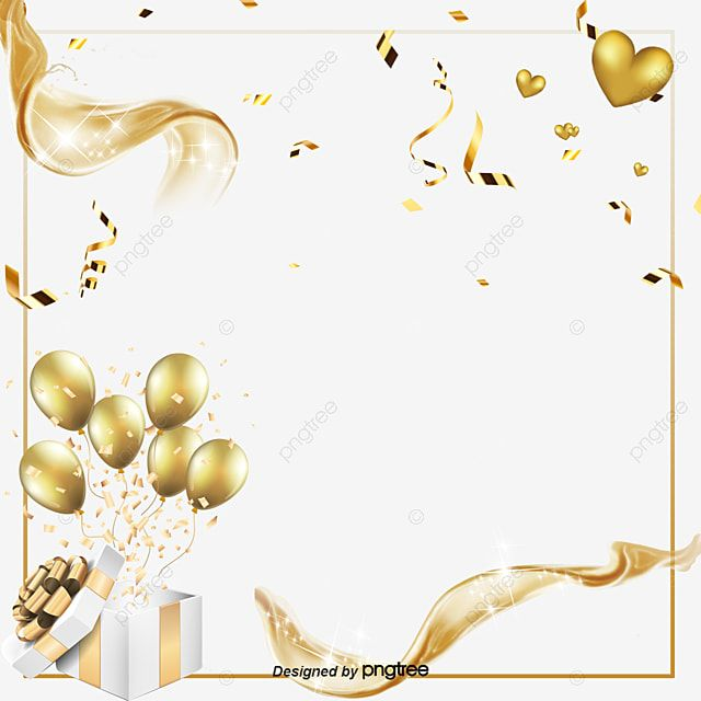 Creative Gold With Balloon Elements Originality Coloured Ribbon Balloon Png Transparent Clipart Image And Psd File For Free Download In 2021 Balloon Clipart Balloons Frame Ribbon