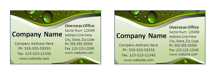 Visiting Card Template wordstemplates Pinterest Visiting - name and address template