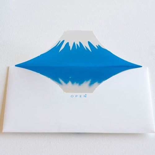 封を開けると富士山が出現! Mt.envelope ユニークな封筒
