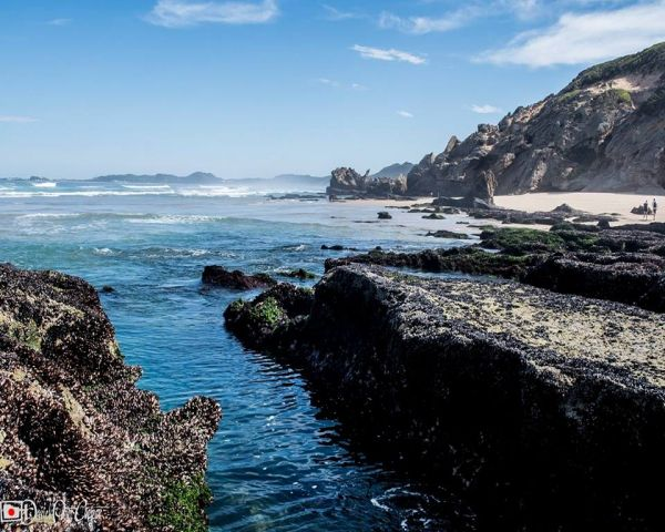 Situated at Brenton on Sea in Knysna, Jaap se baai is a small little beach cove just east of Castle Rock. A pathway and stairs (100m) take you down to the secluded 'Jaap-se-Baai' where you can suntan, swim and catch fresh mussels. There's also a small interesting cave.    Jaap se Baai is a very popular  local fishing spot. Edible Fish: Kabeljou, Steenbras, Mussel Cracker, Blacktail, Galjoen and Cape Stumpnose. Bait: Pilchard, white mussel, prawn, red bait, choka    Photo: Brenton Bea...