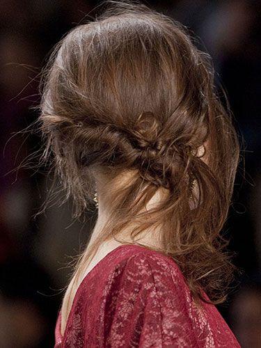 Fall 2013 Hair Bun Trend - New York Fashion Week Fall 2013 Hair Trends - Real Beauty