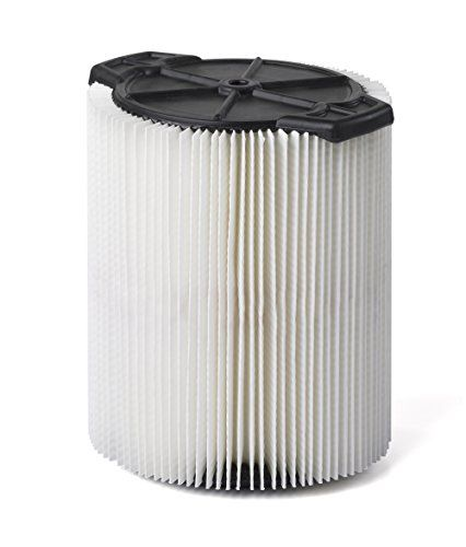 Multi-Fit Wet Dry Vac Filter VF7816 Standard Wet Dry Vacuum Filter (Single Shop Vacuum Cleaner Filter Cartridge) Replaces Red-Stripe Filter For Select Craftsman Shop Vacuum Cleaners 5-Gallon and Large