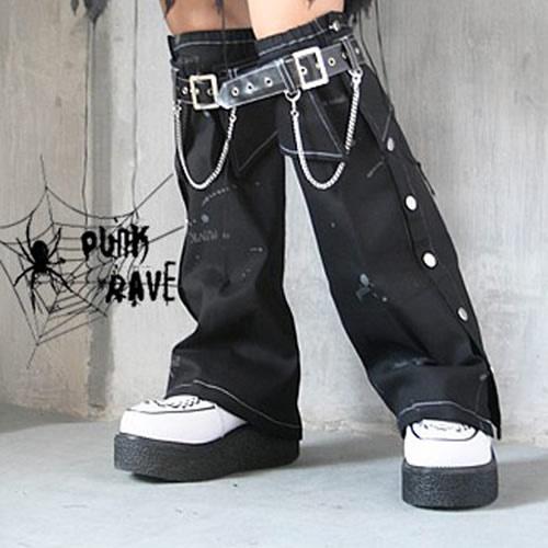 Black Emo Punk Rock Cyber Goth Clothing Accessories Leg Warmers SKU-11403054