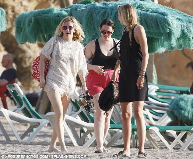 Ellie Goulding in her holidays in Ibiza wearing the Charlotte tunic from Kirei Clothing. www.kireiclothing.com