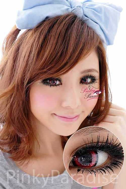 Vassen Sakura Candy Red Circle Lenses Colored Contacts