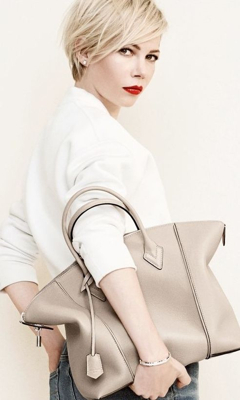 Michelle Williams by Peter Lindbergh for Louis Vuitton | 2014 Ad Campaign | Capucines Bag