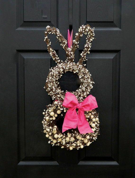 Bunny Wreath-office door?