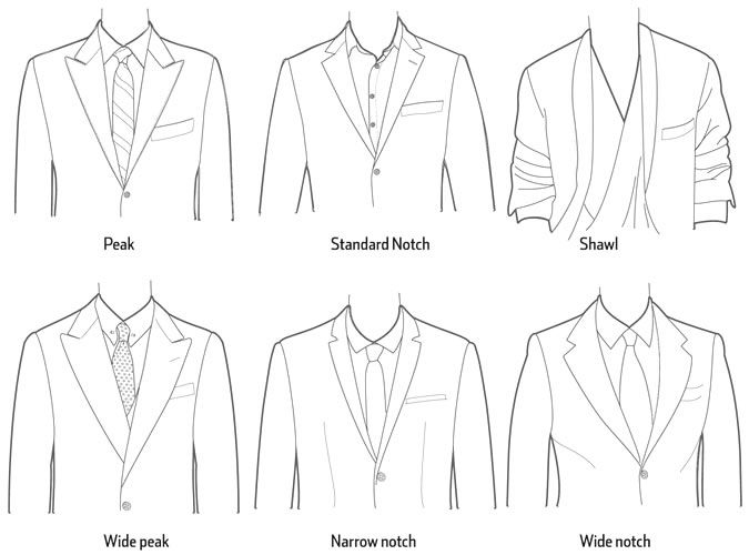 Lapels So Many Different Styles Know The Difference
