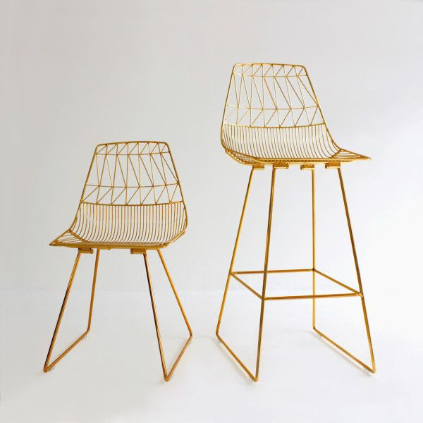bend goods gold chairs