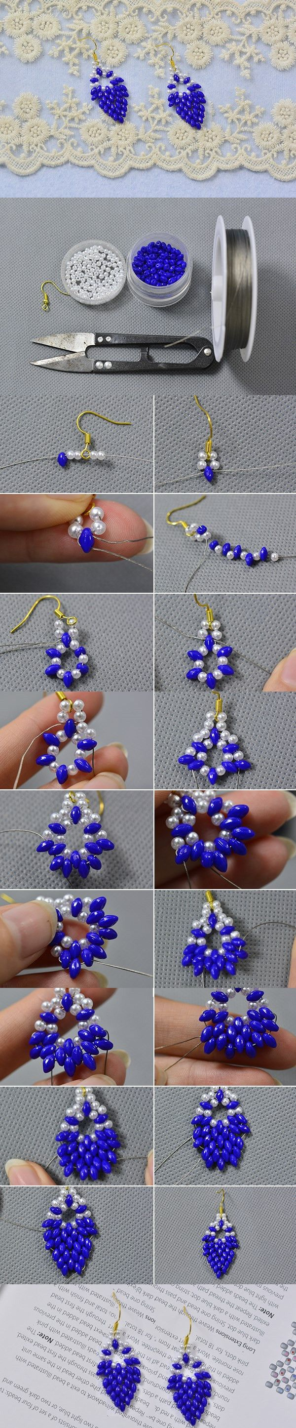 DIY Purple Bead Earrings with Seed Beads and Pearl Beads