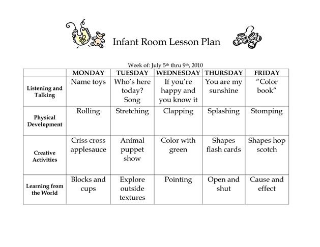 15 best Infant Curriculum images on Pinterest Infant curriculum - toddler lesson plan template