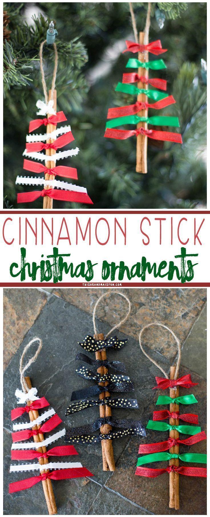 Zimtstange Weihnachtsschmuck sind einfach zu machen, riechen ...