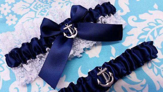 nautische Hochzeit Strumpfband SET schöne von AussieWeddingGarters