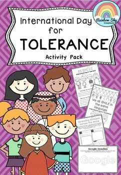 International Day for Tolerance pack for Years 2 - 6 has 15 activities designed…