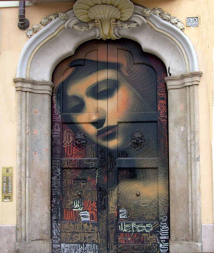 Italy: The Doors, Paintings Doors, Street Art, Front Doors, Elmac, Milan Italy, Doors Art, Streetart, El Mac