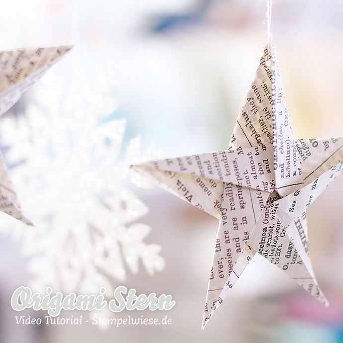 Stampin' Up! - Origami Star - Video Anleitung ❤ Stempelwiese