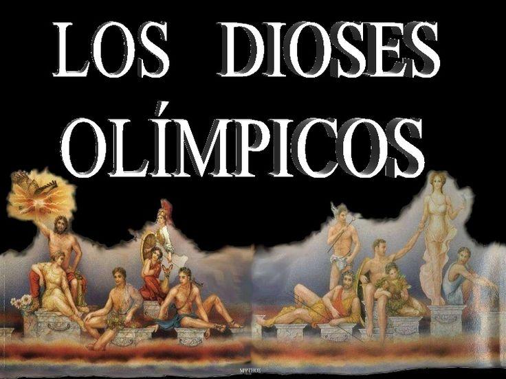 Presentación de los dioses olímpicos, los dioses del Olimpo griego.