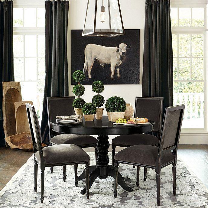 Sidney Dining Table Ballard Designs Dining Room Curtains Dining Table Black Dining Room