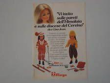 advertising Pubblicità 1977 BAMBOLA FURGA LISA JEAN