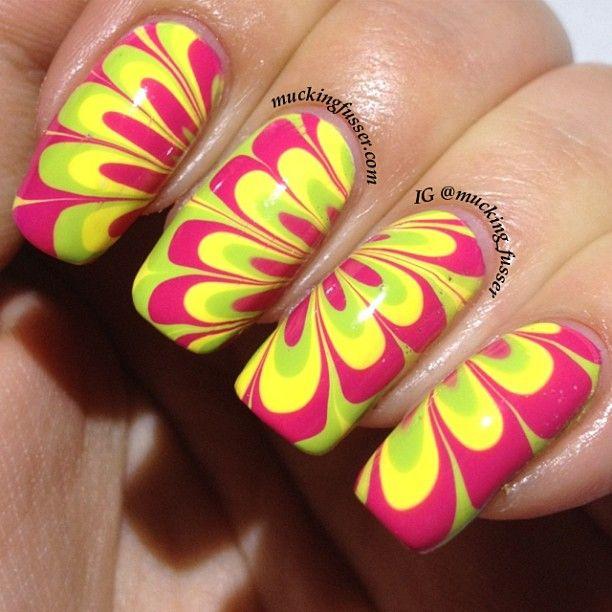 Water Marble Nails - Sally Hansen Polish