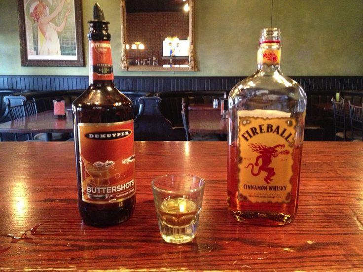 Butterscotch Grim shot.  Fireball whiskey and butterscotch schnapps.