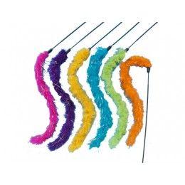 Caña de juguete con cola de pelo #juguetes #gato