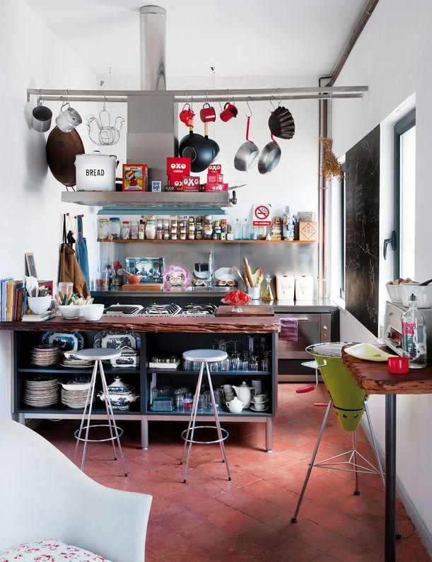 Mediterranean Passion Of The Bohemian Photographer #interior #decor #color  #apartment #mediterranean · Kitchen DecorEclectic ...