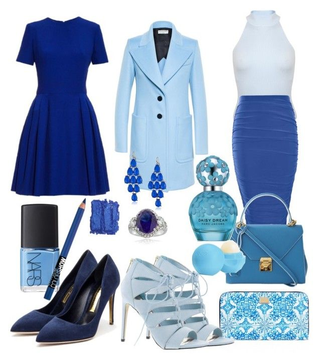 """Blue"" by polynesiangoddess on Polyvore featuring Dolce&Gabbana, Alexander McQueen, Miss Selfridge, Madden Girl, Boohoo, Mark Cross, Balenciaga, Rupert Sanderson, Icz Stonez and Marc Jacobs"
