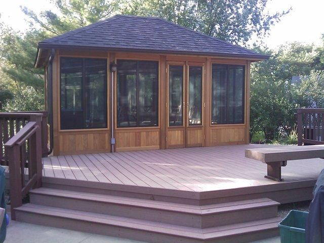 This Is A Timber Tech Composite Deck With A Cedar Gazebo