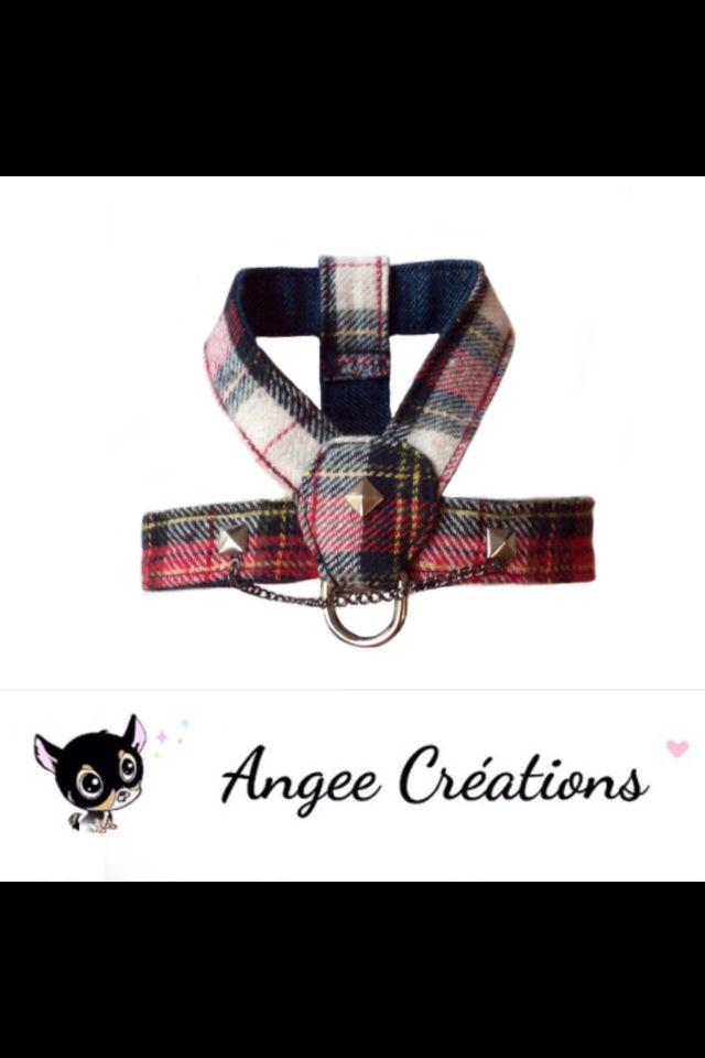 Harnais Punk pour petit chien marque Angee Créations. http://www.alittlemarket.com/boutique/angee-creations