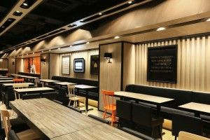 """The main task of the designers is to turn new generation of Yoshinoya's image from fast food chain into a higher quality brand image, turns the store at the core of the busiest commercial district of Hong Kong into a """"Top House""""."""