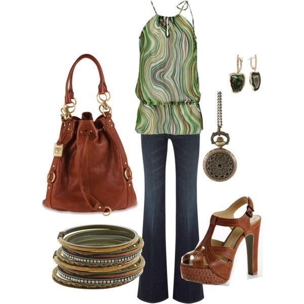 """Green Swirl""Bracelets Oh, Fun Fashion, Fall Style, Cute Outfits, White Shirts, Bracelets Wow, Green Swirls, Fun Tops, Crazy Style"