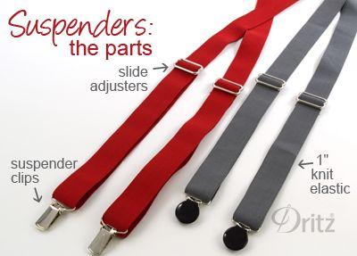 Sewing Tutorial: How to Make Bow Ties & Suspenders