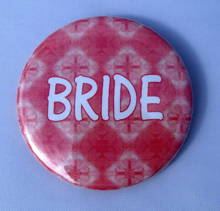 Pink 'Bride' Fridge / Toolbox / Locker Magnet, 2.25' * Want to know more, click on the image.