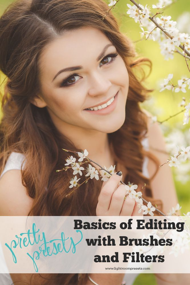 Basics of Editing with Brushes and Filters. Pretty Presets for Lightroom.