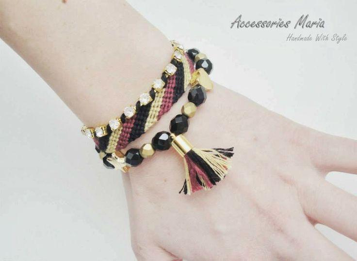Accessories Maria #Colorful #bracelets #gold #handmade #jewelry #accessories #fashion #2014 #spring #summer #love # fericire #Sibiu