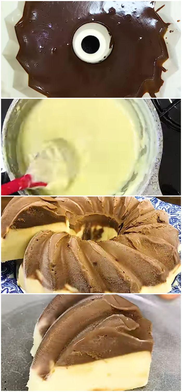 Pudim De Sorvete Chocolate Com Creme Pudim De Sorvete Receitas