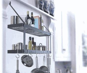 Double Shelf Black Chrome Wall Kitchen Rack My Kitchen