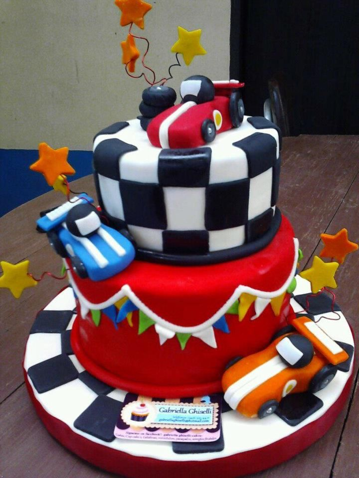 Cake Designs With Cars : Race car cake. 100% handmade and adible My Work ...