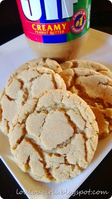 Soft peanut butter cookies- these are very good. I liked that they're soft and chewy, and not hard and crunchy like a traditional peanut butter cookie. Don't over bake.  11 minutes was plenty! MJ