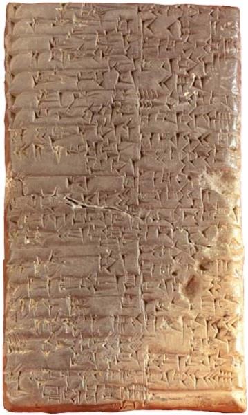 Cuneiform script.Sumerians. local material. tablets.
