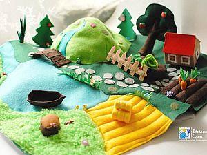 Шьем яркий и реалистичный игровой коврик из фетра - Ярмарка Мастеров - ручная работа, handmade