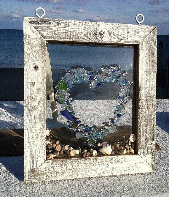 Sea Glass Winddow Heart Valantines by beachcreation on Etsy, $95.00 Beautiful!